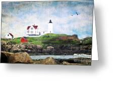 The Nubble Greeting Card by Darren Fisher
