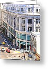 The Old Alfred Hitchcock Vertigo White House Department Store Now Banana Republic Department Store Greeting Card by Wingsdomain Art and Photography