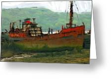 The Old Fishing Trawler Greeting Card by Stefan Kuhn