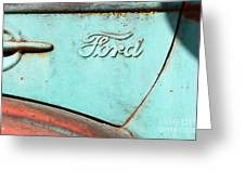 The Old Ford Jalopy . Nostalgia In Abstract . 7d12892 Greeting Card by Wingsdomain Art and Photography