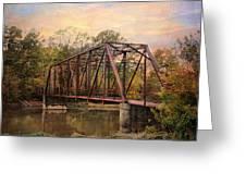 The Old Iron Bridge Greeting Card by Jai Johnson