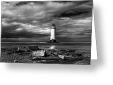 The Old Lighthouse  Greeting Card by Adrian Evans