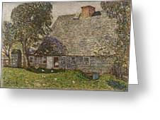 The Old Mulford House Greeting Card by Childe Hassam