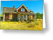 The Old School House Greeting Card by Lenore Senior and Dawn Senior-Trask