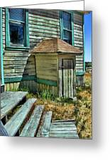 The Old Schoolhouse Greeting Card by Bonnie Bruno