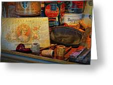 The Old Smoke Shop Greeting Card by Dave Mills