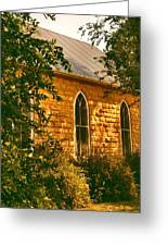 The Old Stone Church Greeting Card by Don Wright