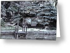 The Old Swimming Hole Greeting Card by Debra     Vatalaro