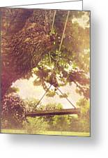 The Old Swing Greeting Card by Susan Bordelon