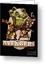 The Old Time-y Avengers Greeting Card by Brian Kesinger