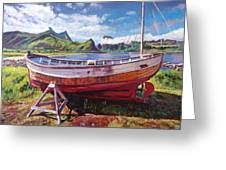 The Old Timer Greeting Card by David Lloyd Glover
