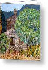 The Old Willow Tree Greeting Card by Caroline Street