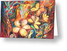 The Orange Wind Greeting Card by Elena Kotliarker