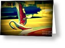 The Packard Swan Greeting Card by Susanne Van Hulst