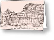 The Palm House In Pink Greeting Card by Lee-Ann Adendorff