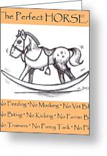 the Perfect Horse Greeting Card by George Pedro