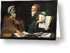 The Philosophers Greeting Card by Master of the Judgment of Solomon