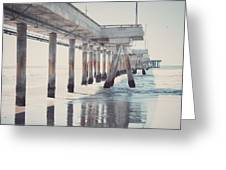 The Pier Greeting Card by Nastasia Cook