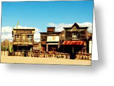 The Pioneer Hotel Old Tuscon Arizona Greeting Card by Susanne Van Hulst