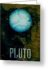 The Planet Pluto Greeting Card by Michael Tompsett