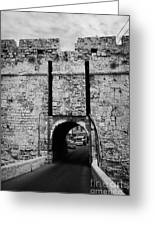 The Porta Di Limisso The Old Land Limassol Gate In The Old City Walls Famagusta Cyprus Greeting Card by Joe Fox