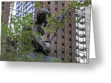 The Portland Building Greeting Card by David Bearden
