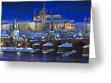 The Prague Panorama Greeting Card by Yuriy  Shevchuk