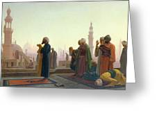 The Prayer Greeting Card by Jean Leon Gerome