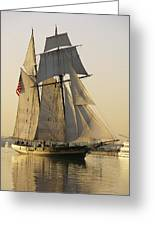 The Pride Of Baltimore Clipper Ship Greeting Card by George Grall