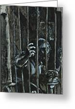 The Prisoner Greeting Card by David Finley