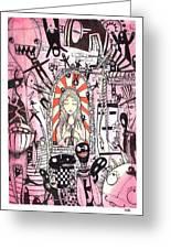 The Prophet Greeting Card by Katchakul Kaewkate