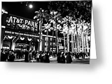 The Public House Bw Greeting Card by Rick DeMartile