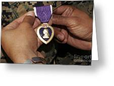 The Purple Heart Award Greeting Card by Stocktrek Images