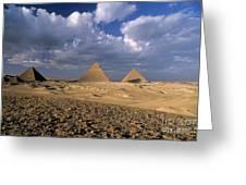 The Pyramids At Giza Greeting Card by Sami Sarkis