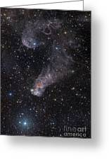 The Question Mark Nebula In Orion Greeting Card by John Davis
