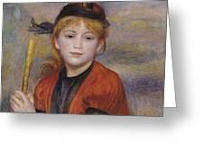 The Rambler Greeting Card by Pierre Auguste Renoir