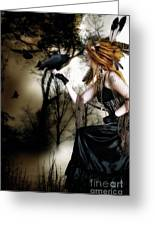 The Raven Greeting Card by Shanina Conway