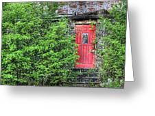 The Red Door Greeting Card by JC Findley