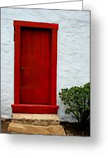The Red Door Greeting Card by Karon Melillo DeVega