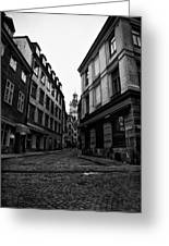 The Right Way Stockholm Greeting Card by Stylianos Kleanthous