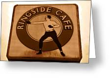 The Ringside Cafe Greeting Card by David Lee Thompson