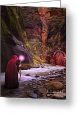 The Road Less Traveled Greeting Card by John Edwards