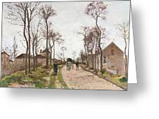 The Road To Saint Cyr At Louveciennes Greeting Card by Camille Pissarro