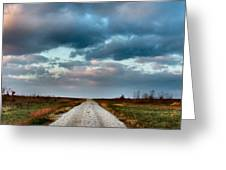 The Road to Somewhere Greeting Card by Julie Dant