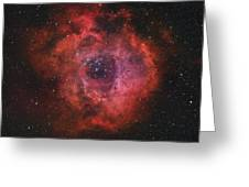 The Rosette Nebula Greeting Card by Rolf Geissinger