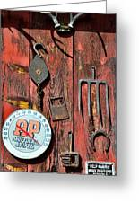 The Rusty Barn - Farm Art Greeting Card by Paul Ward