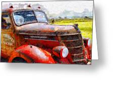 The Rusty Old Jalopy . 7d15509 Greeting Card by Wingsdomain Art and Photography
