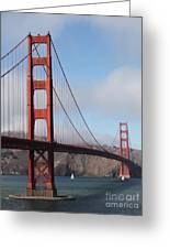 The San Francisco Golden Gate Bridge - 5d18906 Greeting Card by Wingsdomain Art and Photography