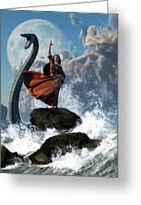 The Sea Witch Greeting Card by Daniel Eskridge