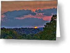 The Setting Sun Greeting Card by Shirley Tinkham
